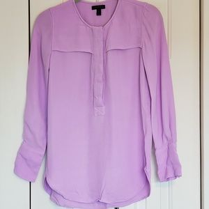 J. Crew long sleeve shirt, purple, size 2